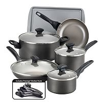Farberware 15-pc. Nonstick Aluminum Cookware Set