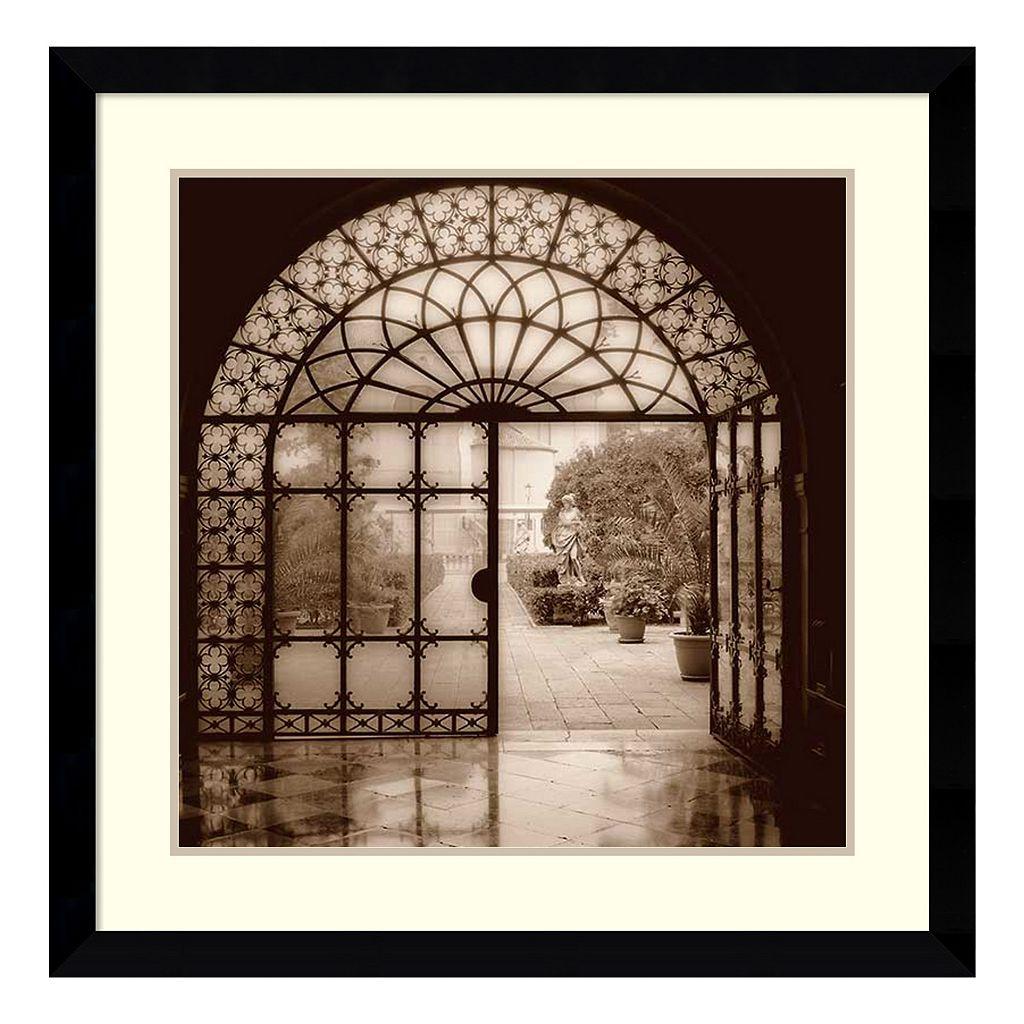 ''Courtyard in Venezia'' Framed Wall Art