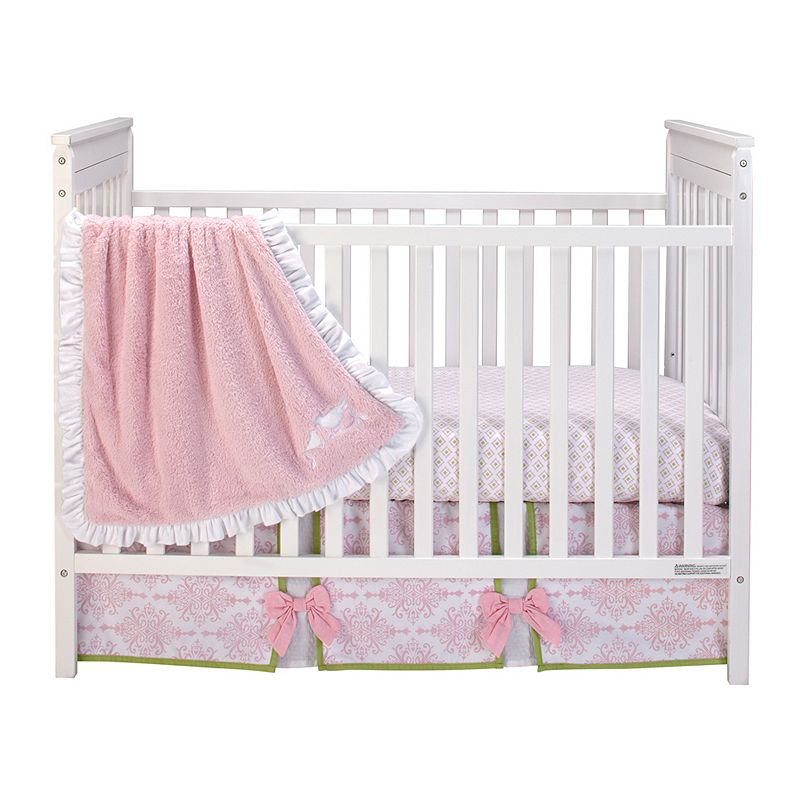 Wendy Bellissimo Gracie 3-pc. Bedding Set - Baby, Pink/White