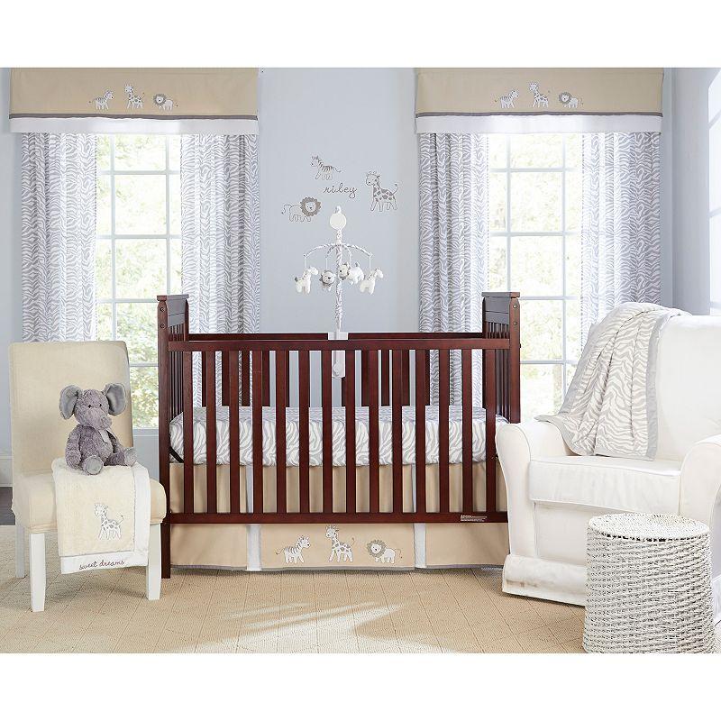 Wendy Bellissimo Little Safari 3-pc. Bedding Set - Baby, Gray/White
