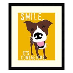 ''Smile'' Dog Framed Wall Art