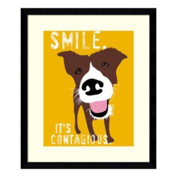 ''Smile'' Dog Framed Wall Art