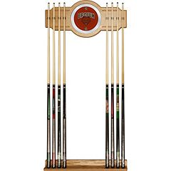 Brown Bears Billiard Cue Rack with Mirror