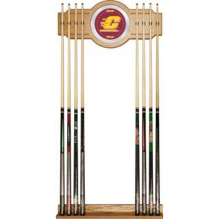 Central Michigan Chippewas Billiard Cue Rack with Mirror
