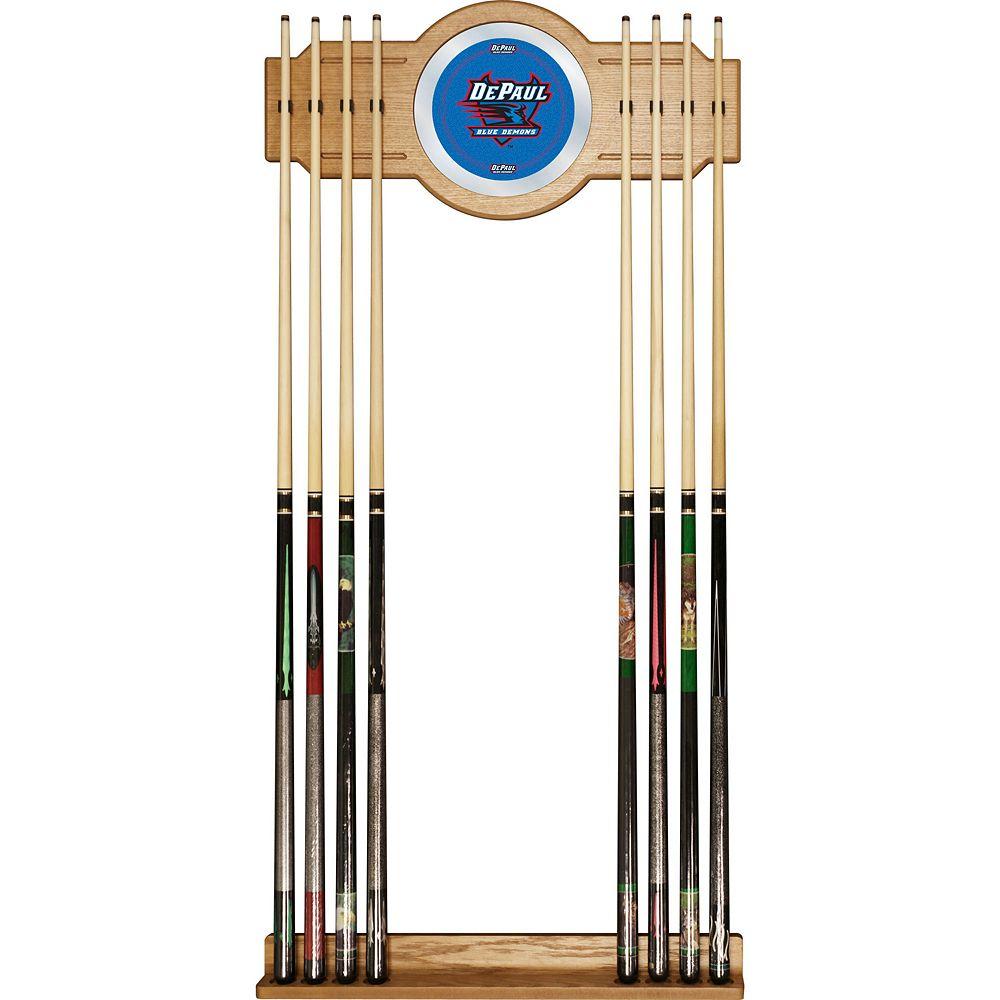 DePaul Blue Demons Billiard Cue Rack with Mirror