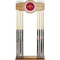 Iowa State Cyclones Billiard Cue Rack with Mirror