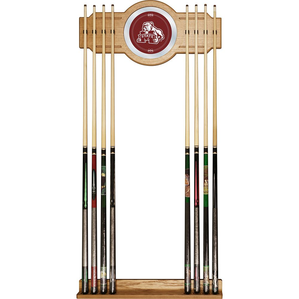 Mississippi State Bulldogs Billiard Cue Rack with Mirror