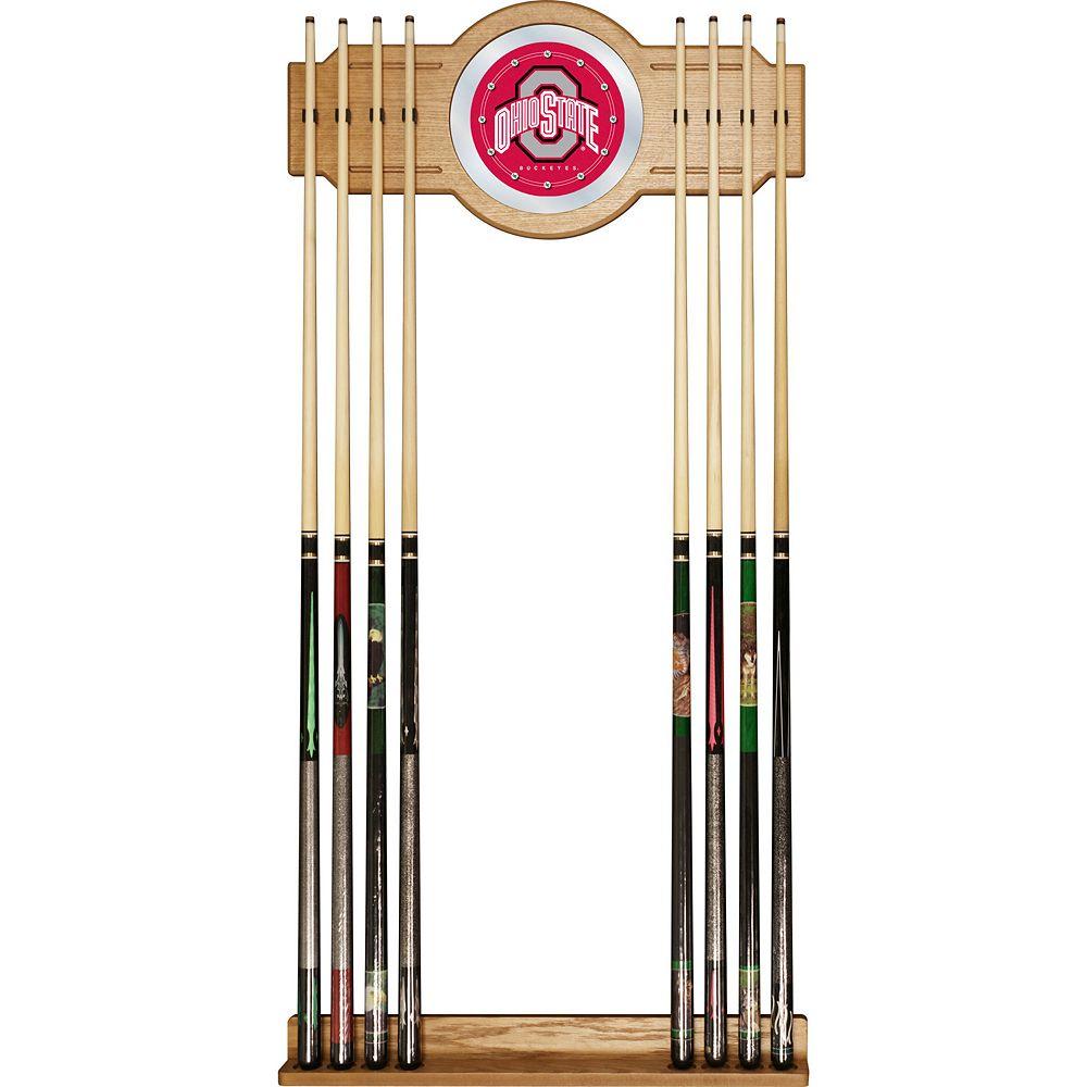 Ohio State Buckeyes Billiard Cue Rack with Mirror
