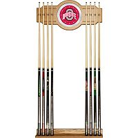 Ohio State Buckeyes Billiard Cue Rack with Mirror