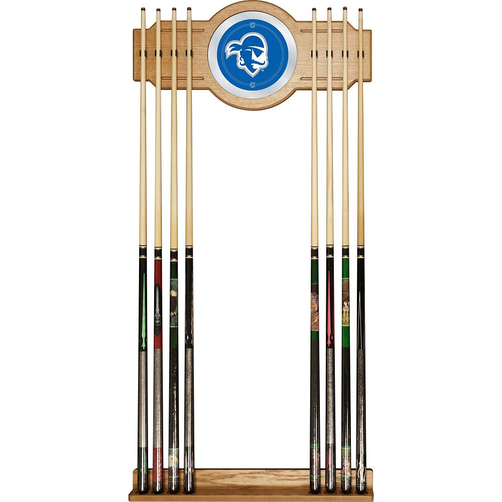 Seton Hall Pirates Billiard Cue Rack with Mirror