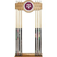 Texas A&M Aggies Billiard Cue Rack with Mirror