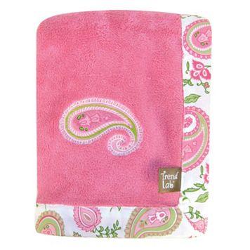 Trend Lab Paisley Fleece Receiving Blanket
