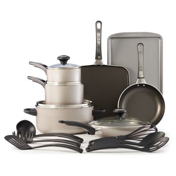 Farberware High 17-Pc Nonstick Cookware Set + $15 Kohls Cash