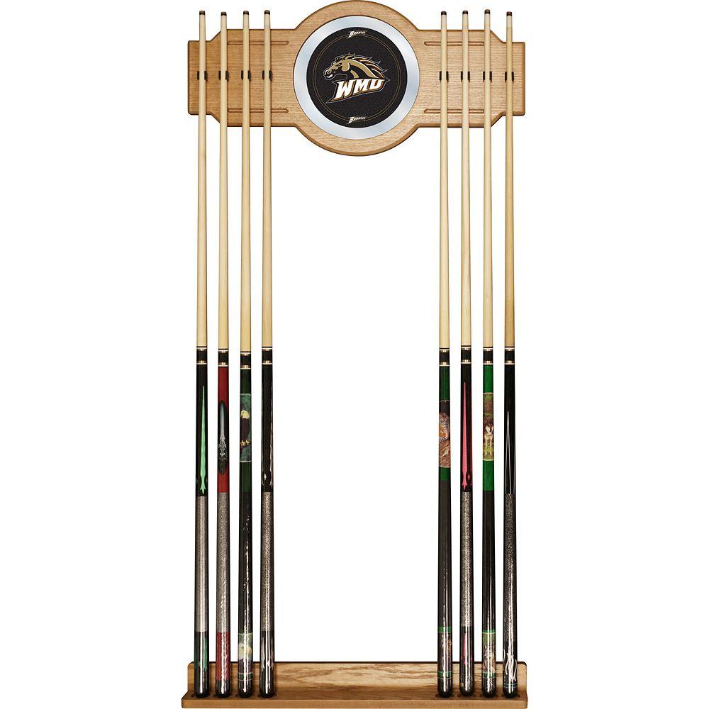 Western Michigan Broncos Billiard Cue Rack with Mirror