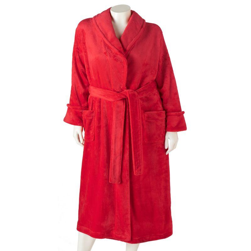 SONOMA life + style Plush Shawl Robe - Women's Plus Size