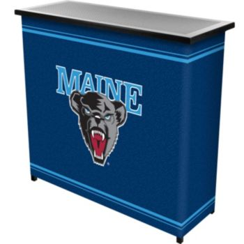 Maine Black Bears 2-Shelf Portable Bar with Case