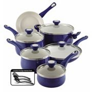 Farberware New Traditions Speckled Aluminum Nonstick 14 pc Cookware Set
