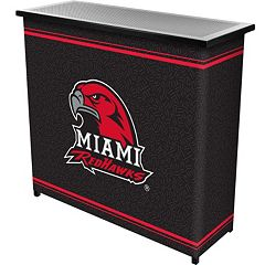 Miami RedHawks 2-Shelf Portable Bar with Case