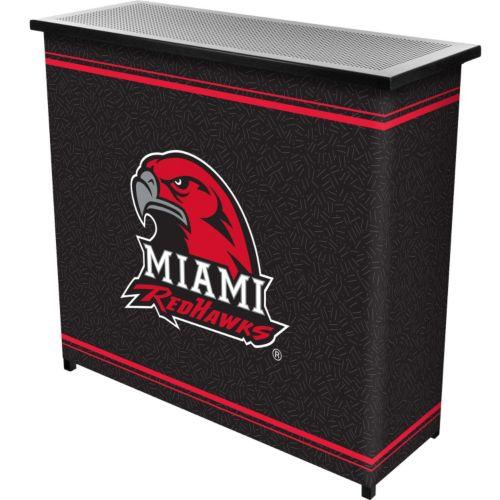 Miami RedHawks 2-Shelf Portable Bar with Case