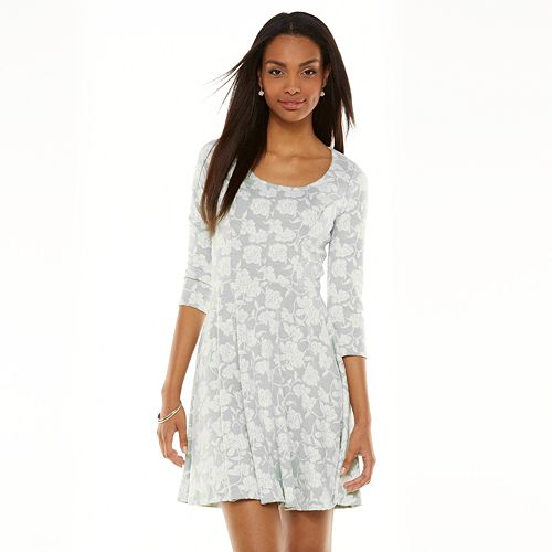 60e279813fa8 ... where to buy lc lauren conrad floral jacquard fit flare dress womens  d1260 eee11