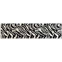 Infinity Home Madison Safari Zebra Print Shag Rug Runner - 1'8'' x 7'2''