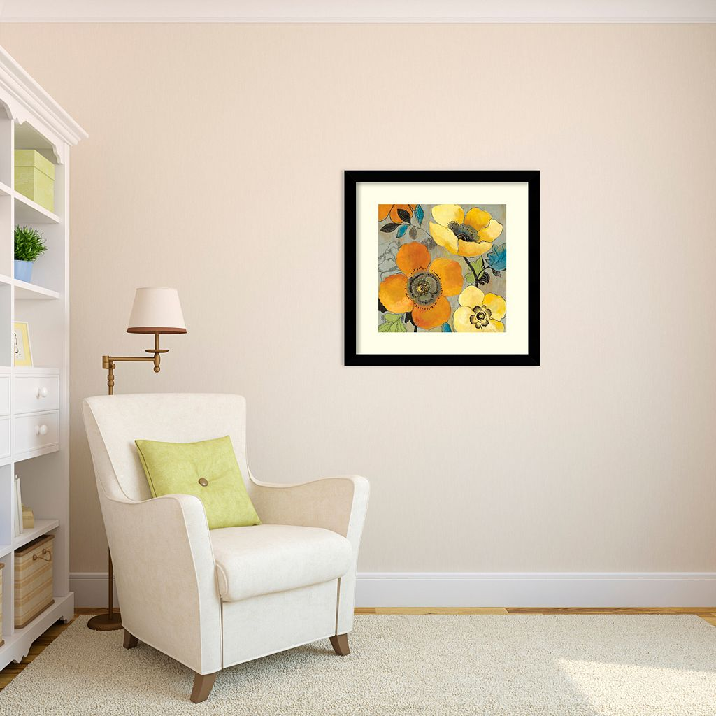 ''Poppies I'' Floral Framed Wall Art