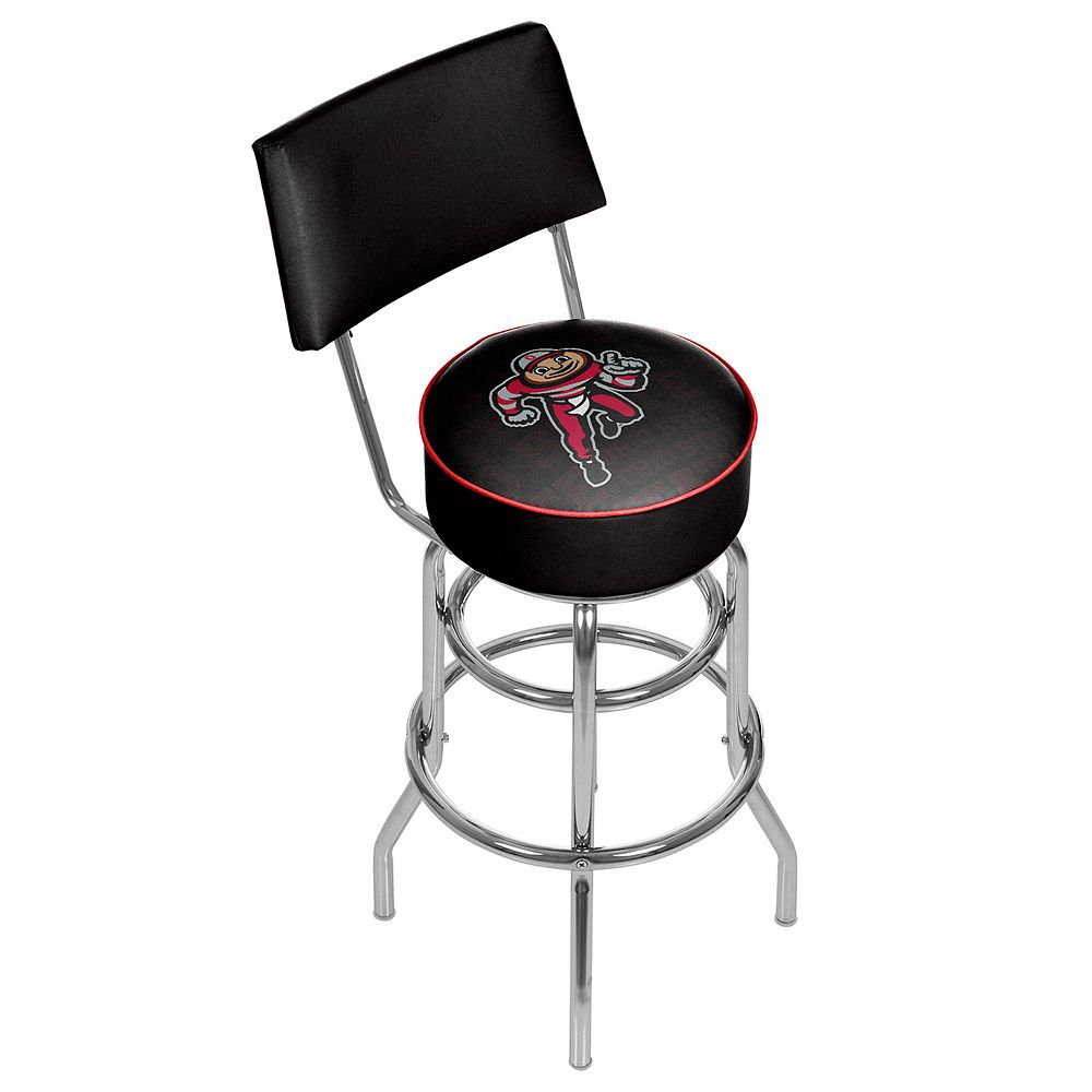Ohio State Buckeyes Padded Swivel Bar Stool with Back