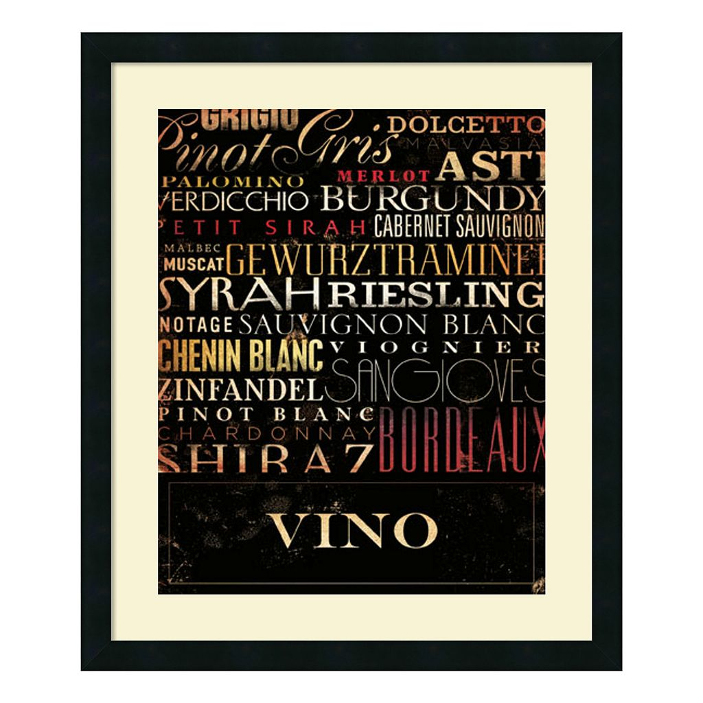 ''Vino'' Wine Framed Wall Art