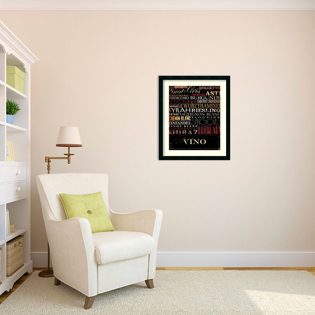 ''Vino'' Wine Framed Wall Art