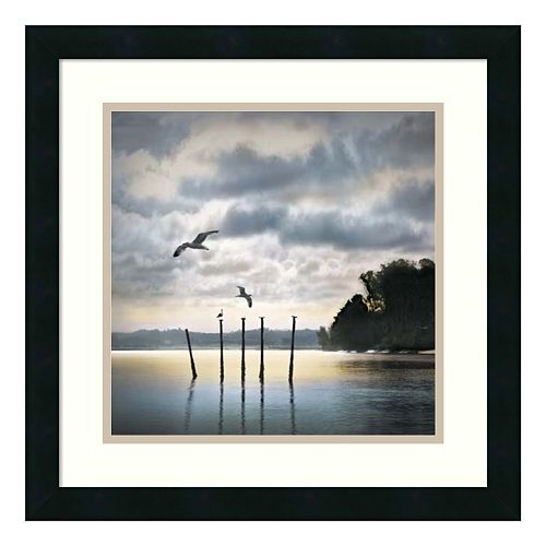 ''Circling Skies'' Seascape Framed Wall Art