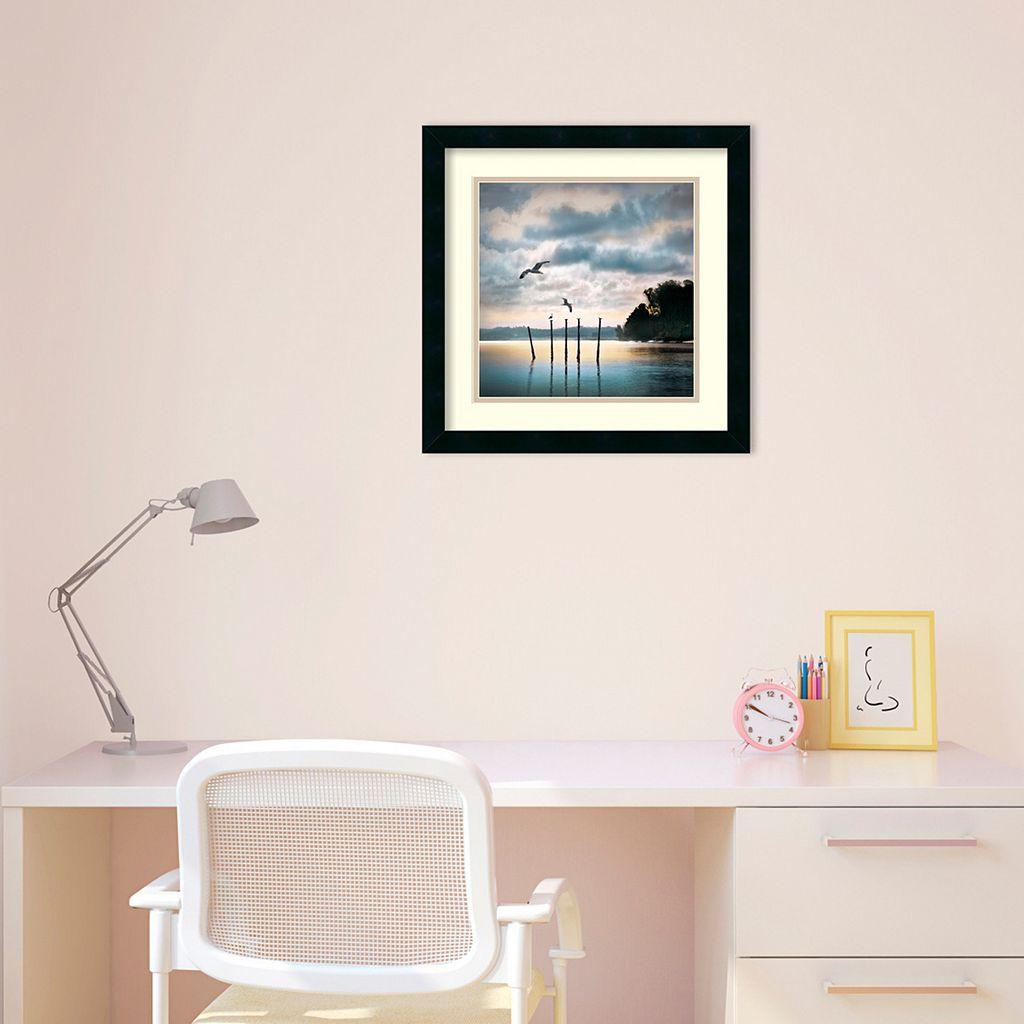 ''Circling Skies'' Seascape Framed Wall Art