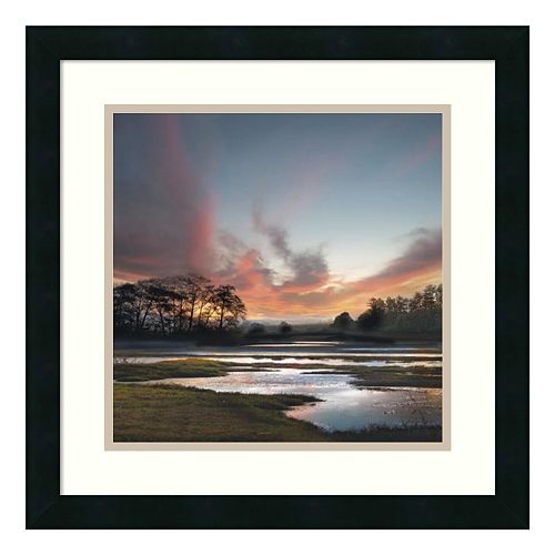 ''Beyond the Sun'' Sunset Framed Wall Art