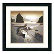 ''She Sleeps in the Sand'' Beach Framed Wall Art