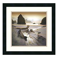 ''She Sleeps in the Sand'' Beach Framed Wall Art