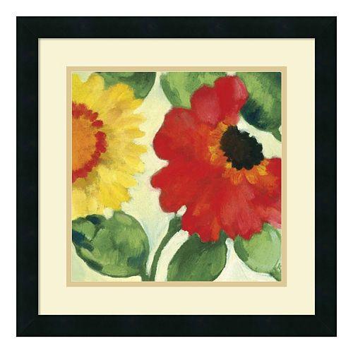 ''Anemone Garden III'' Floral Framed Wall Art
