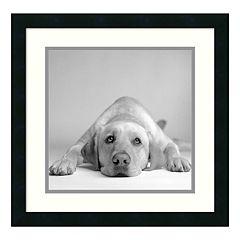 ''Tally'' Dog Framed Wall Art