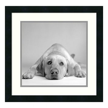 ''Tally'' Dog Framed Wall Art