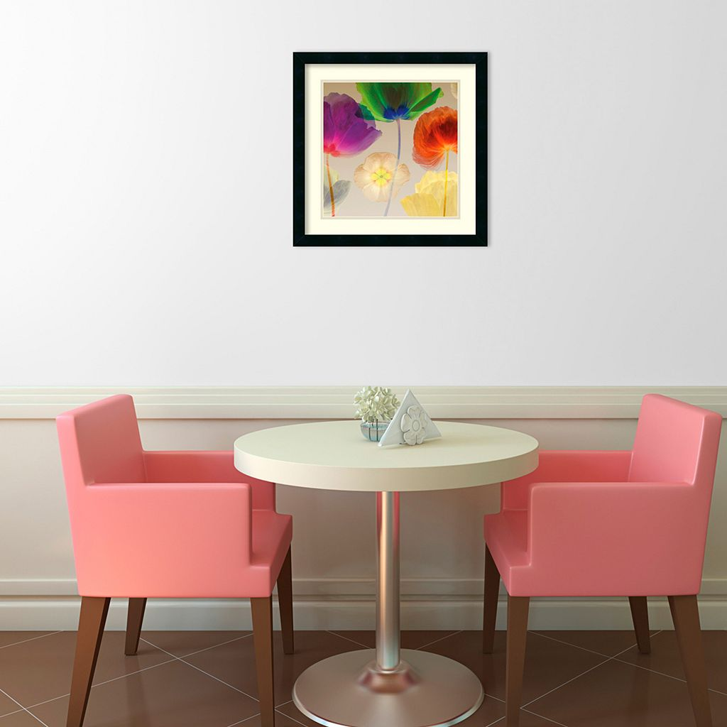 ''Poppy Panorama'' Floral Framed Wall Art