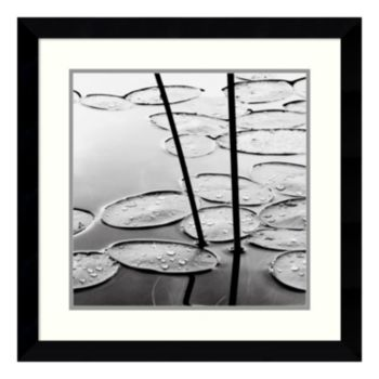 ''Lily Pads Dusk'' Framed Wall Art