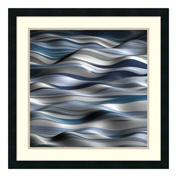 ''Undulation I'' Wavy Framed Wall Art