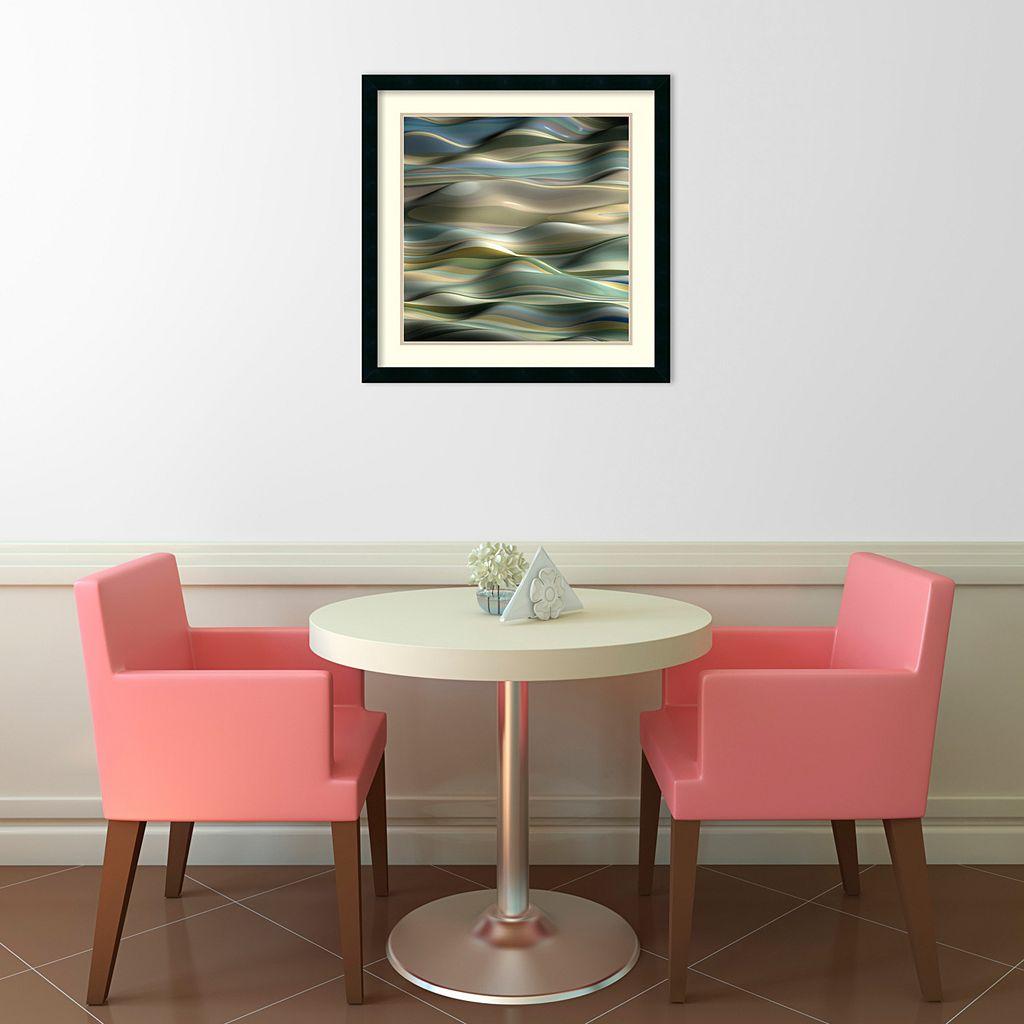 ''Undulation V'' Wavy Framed Wall Art