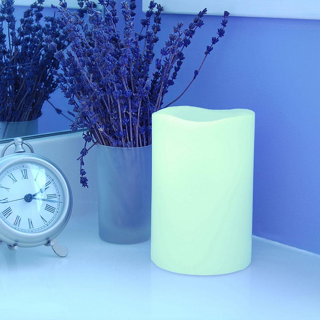 LumaBase 3-piece Color-Changing LED Pillar Candle Set