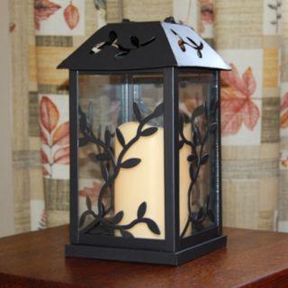 LumaBase 2-piece Metal Lantern and LED Pillar Candle Set