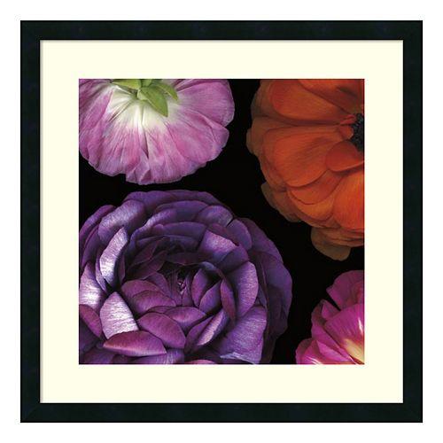 ''Ranunculus Left II'' Floral Framed Wall Art