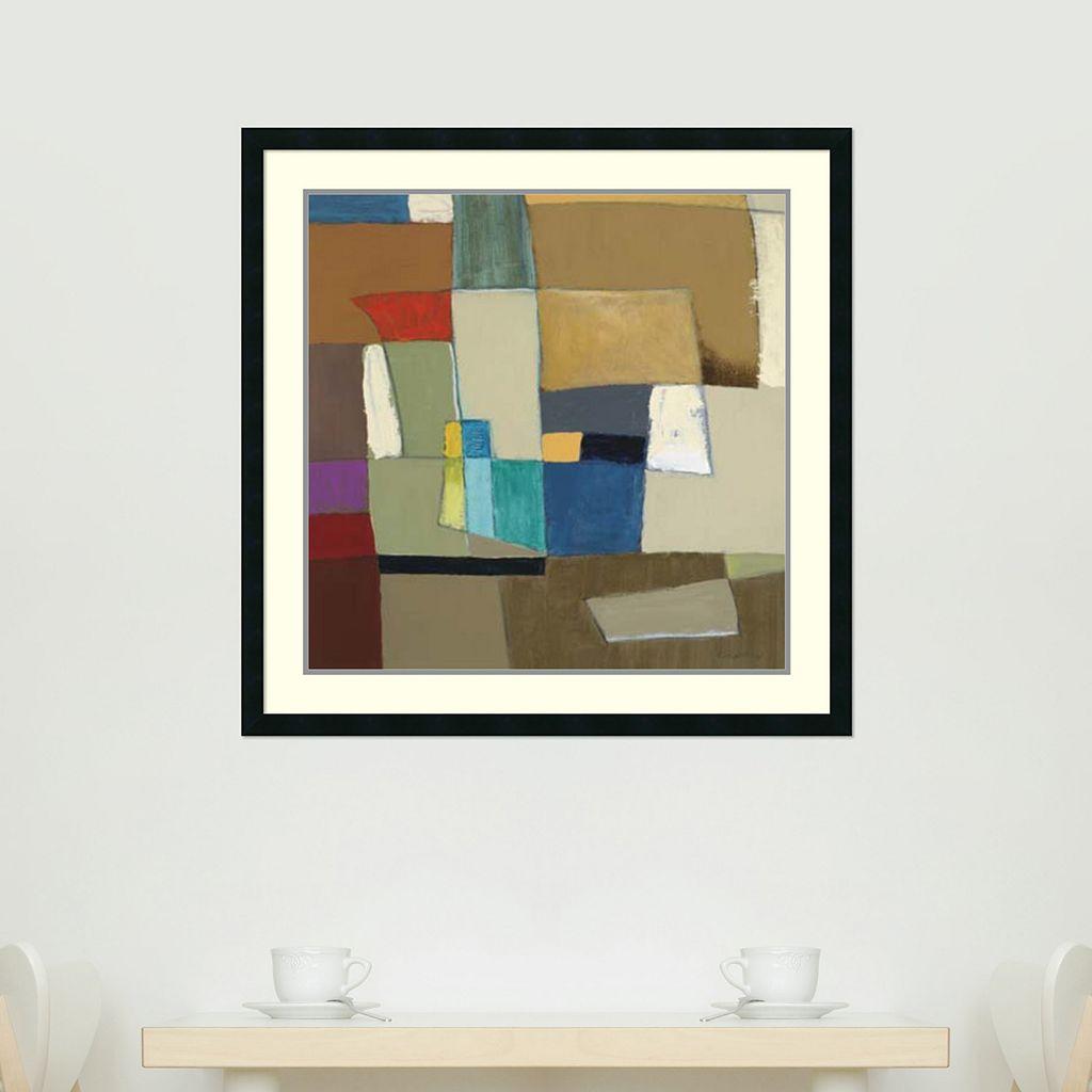 ''Urban Mix II'' Abstract Framed Wall Art