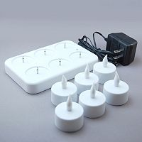 LumaBase 7-piece Rechargeable LED Tealight Candle Set