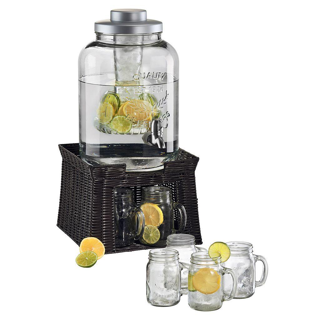 Artland Oasis 7-pc. Beverage Dispenser & Mug Set