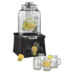 Artland Oasis 7 pc Beverage Dispenser & Mug Set