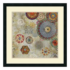 ''Caravan II'' Medallion Framed Wall Art
