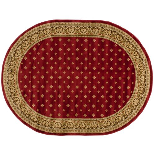 Infinity Home Barclay Hudson Terrace Ornate Rug - 5'3'' x 6'10'' Oval